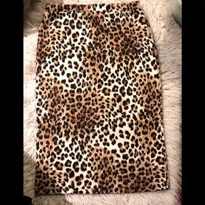 Moa Stretch Cheetah Print Pencil Skirt-Juniors